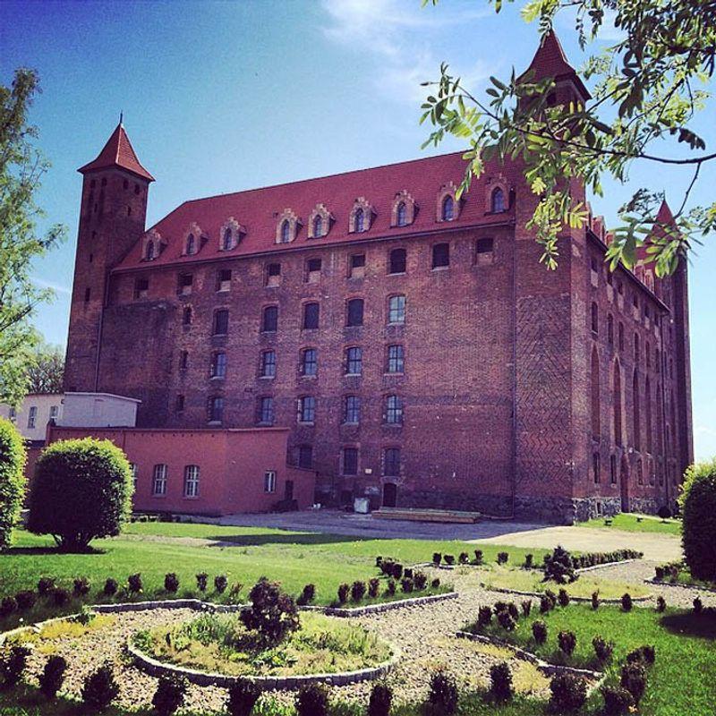 Castillo de gniew en polonia
