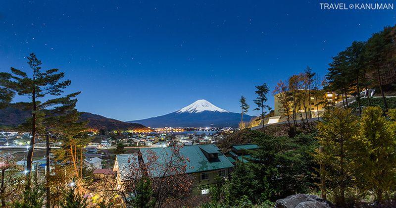 จุดชมวิวภูเขาไฟฟูจิ (Mt. Fuji) ที่ทะเลสาบคาวากุชิ (Kawaguchiko) ญี่ปุ่น