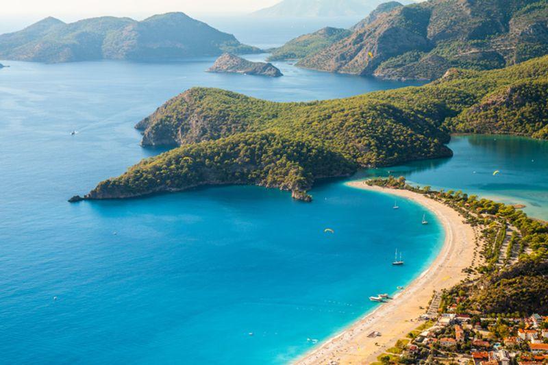 Залив Олюдениз, Турция