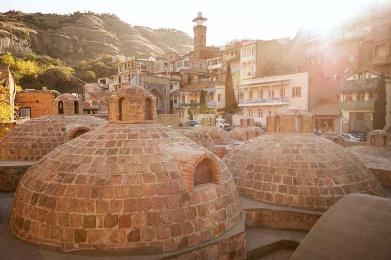 Серные бани Абанотубани в Тбилиси, Грузия