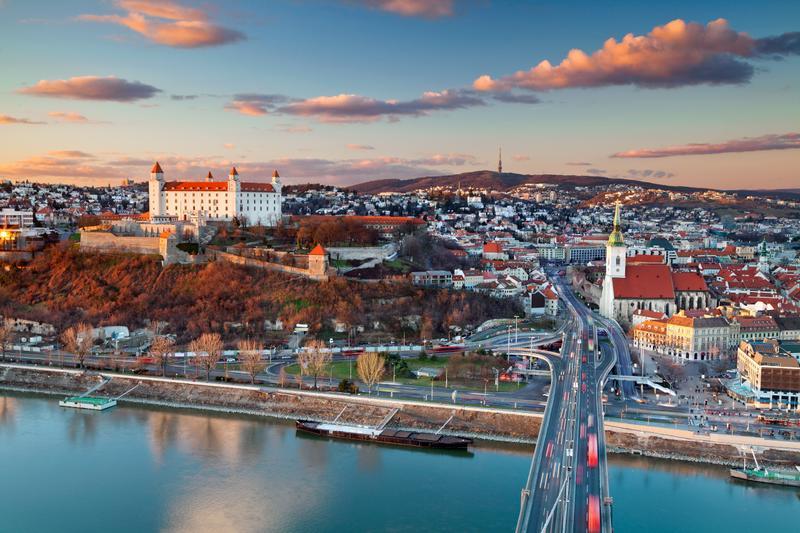 Η πόλη Μπρατισλάβα στη Σλοβακία
