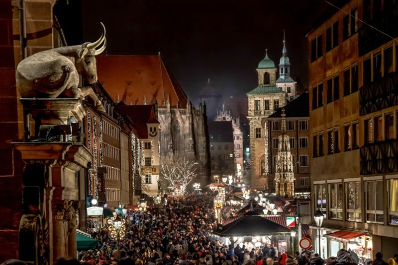 Рождественская ярмарка в Нюрнберге, Германия