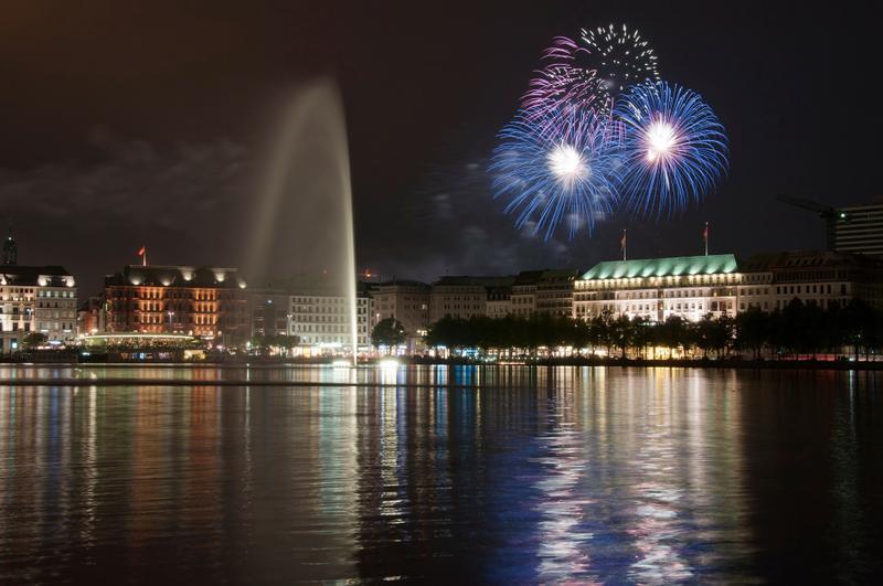 Silvester in Europa: Hamburg