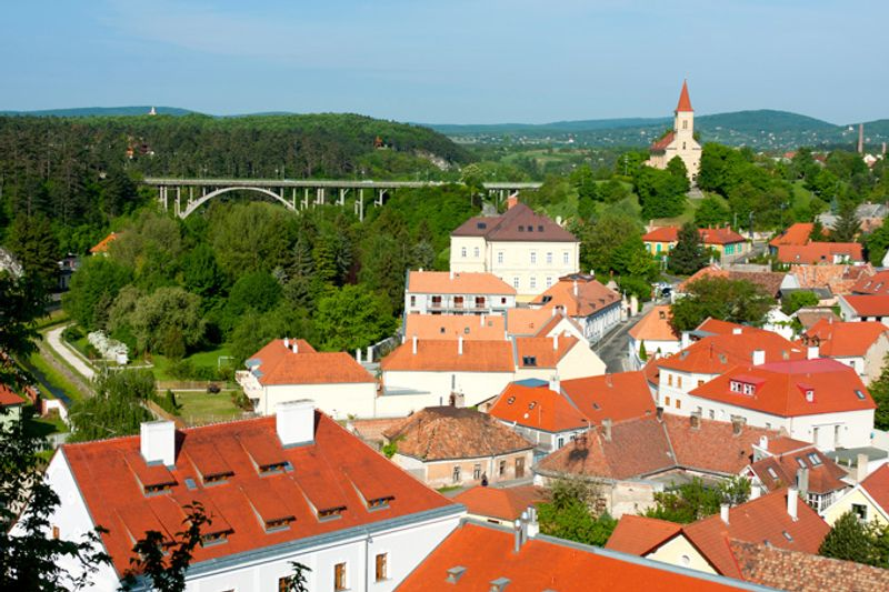 Город Веспрем в Венгрии