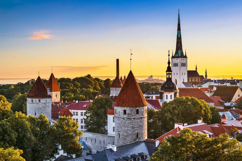 Estonya'nın başkenti olan Talin.