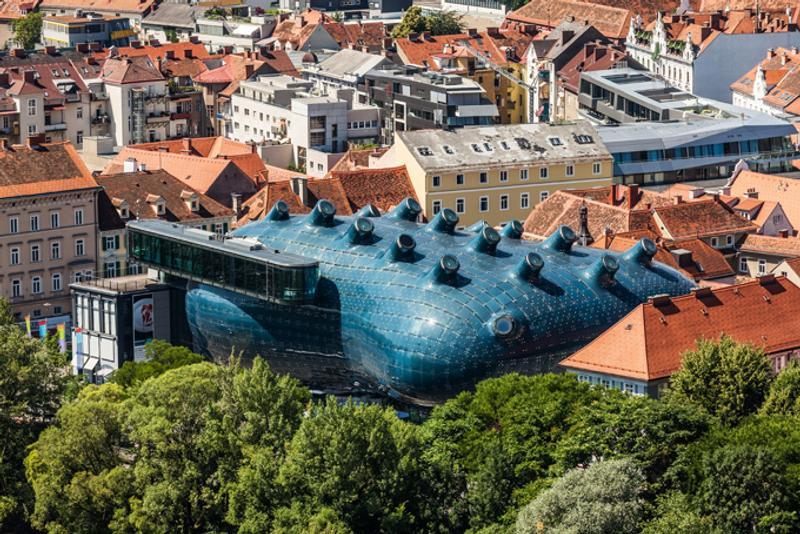 Здание Кунстхауса в Граце, Австрия