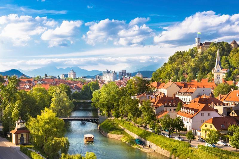 Veduta della città di Lubiana, Slovenia