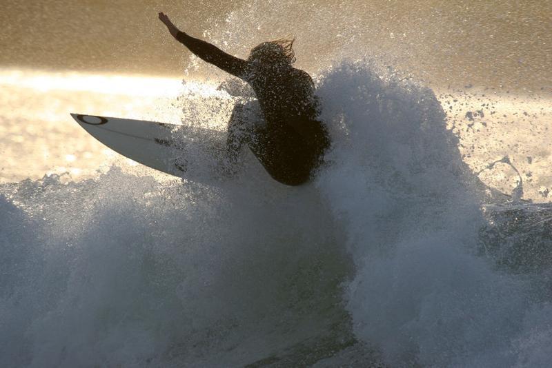 surfer on  Easky beach