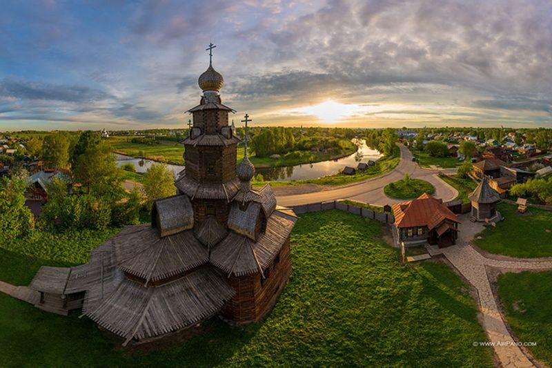Die Kirche in Suzdal Museum der hölzernen Kunst