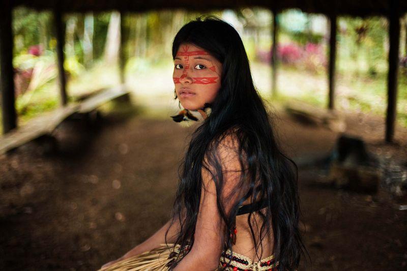 """Девушка из индейского народа кечуа, Южная Америка, из фотопроекта Михаэлы Норок """"Атлас красоты"""""""