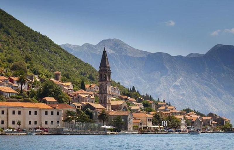 Veduta della baia di Kotor, Montenegro