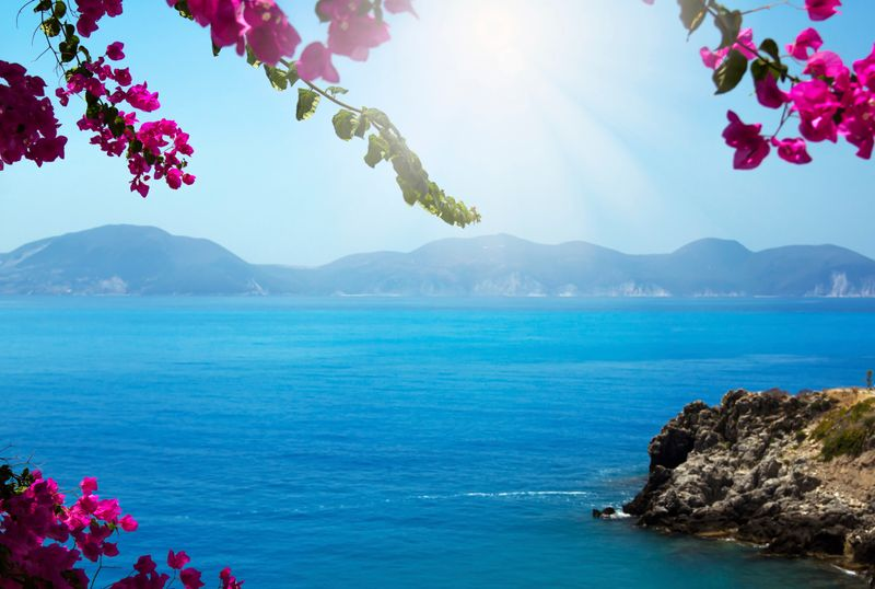 The Greek island of Kefalonia