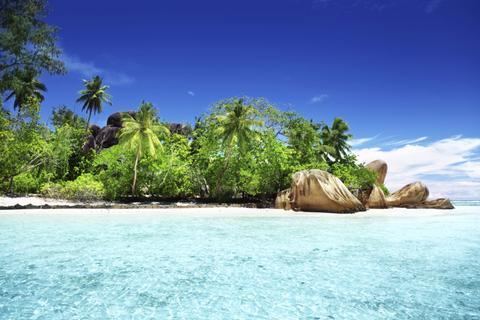 playa de la digue en las seychelles