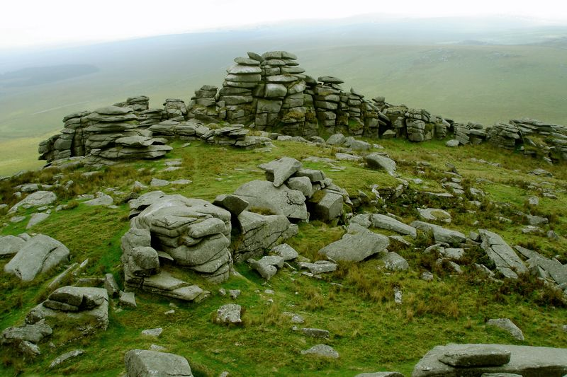 Rough Tor stone stacks, Bodmin Moor, Cornwall