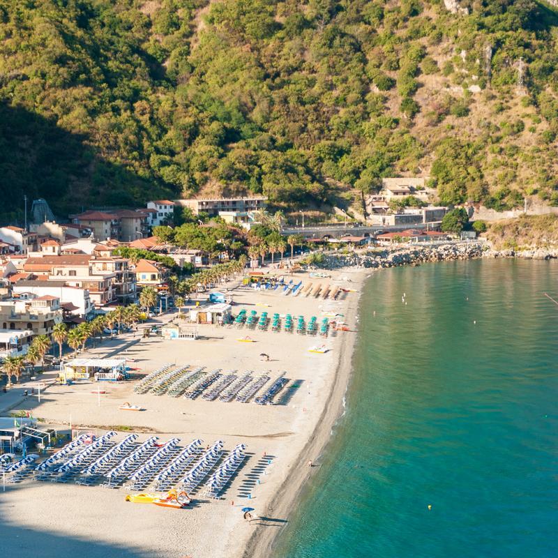 Der Strand von Scilla, Kalabrien