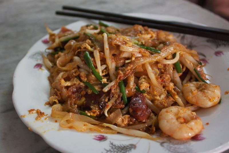 A plate of Koay Teow noodles.