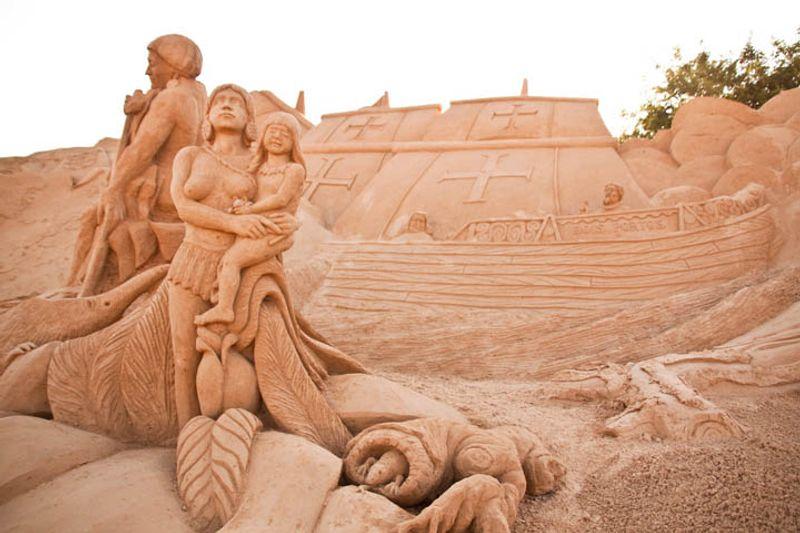 esculturas de arena en Pera Algarve