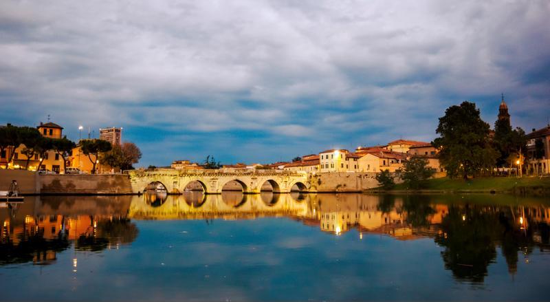 A bridge in Rimini, Italy