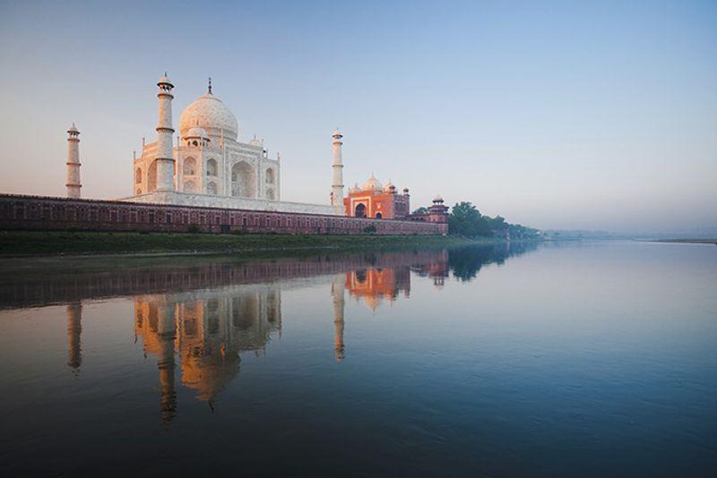 Тадж-Махал на рассвете, Агра, Индия