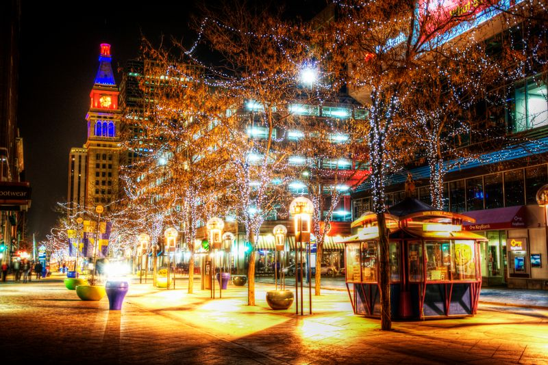 16th Street Mall at Night