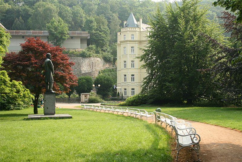 Парк в Карловых Варах, Чехия