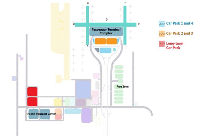 แผนที่อาคารที่จอดรถของสนามบินสุวรรณภูมิ