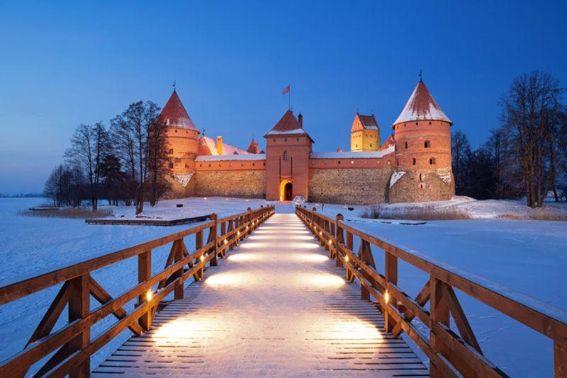 Замой на озере Тракай, Литва