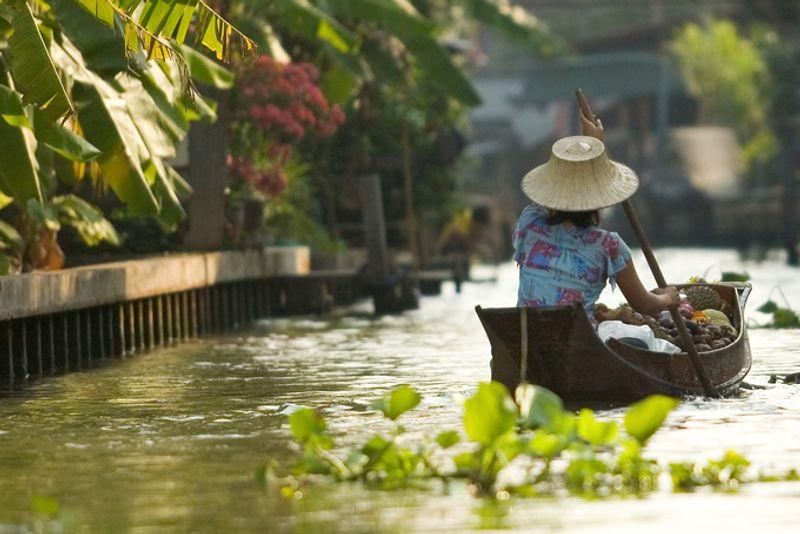 Канал в Бангкоке, Таиланд