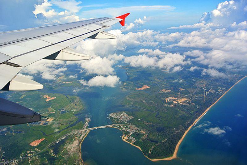 Вид на Пхукет с самолета