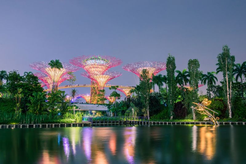 cycle from east coast park to gardens by the bay to watch fireworks at the bay