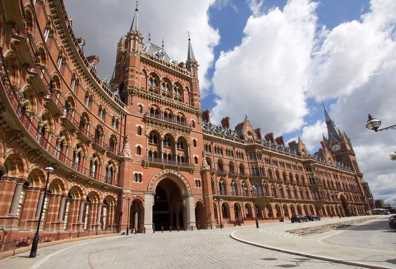 St. Pancras International Railway Station outside view