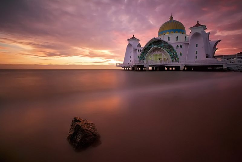 Malacca Straits Mosque, Malacca Island. Photo Credit: Conor MacNeill / Flickr