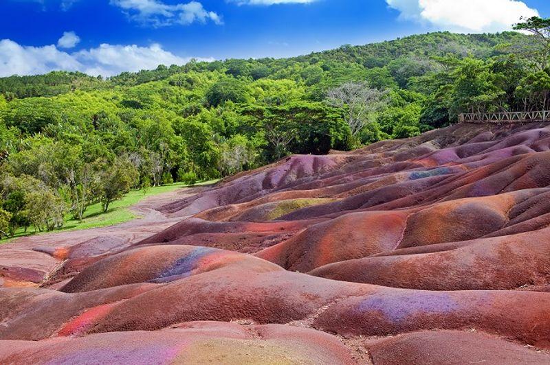 tierra de los siete colores en chamarel islas mauricio