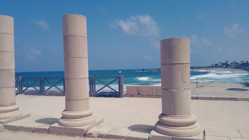 ruinas de cesarea en israel