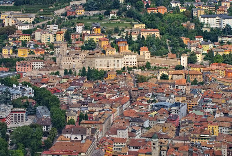 vista panoramica di Trento
