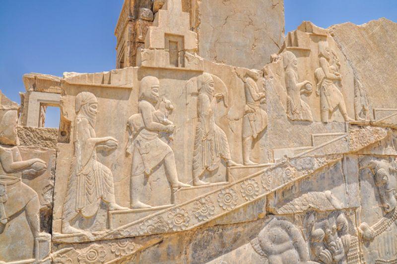 Барельеф в Персеполисе, Иран