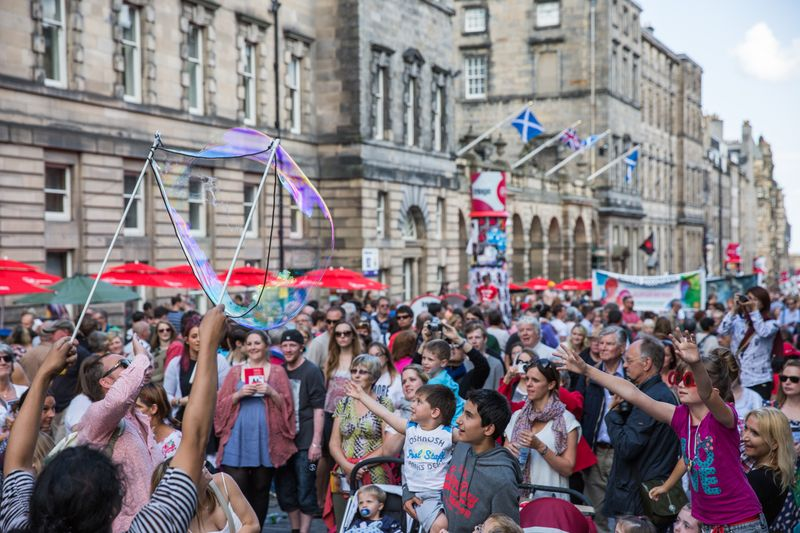 Edinburgh Fringe on the Royal Mile