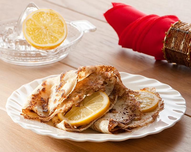 Английские блины с лимоном и сахаром