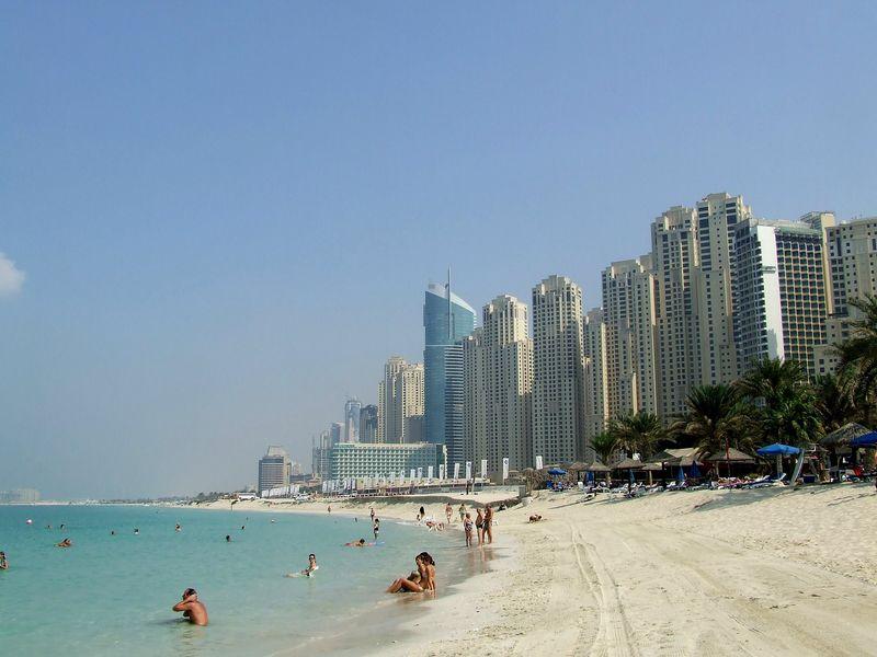 Пляж отеля Шератон в Дубае