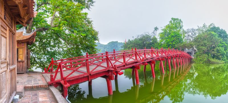 Hoan Kiem Lake in Hanoi in Vietnam