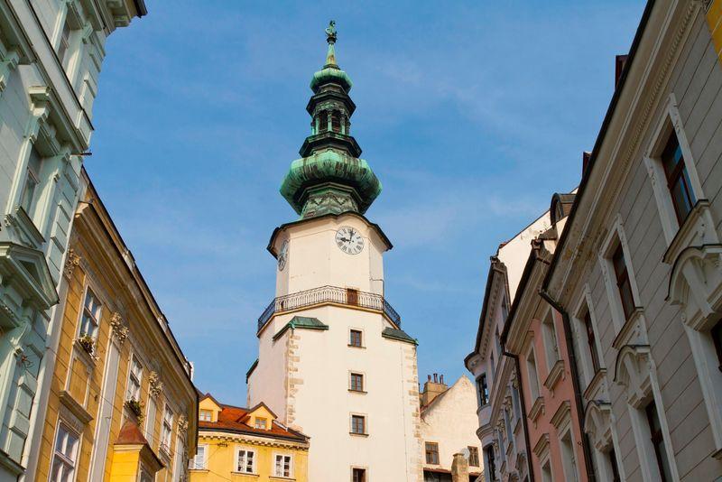 Scorcio della scittà di Bratislava, Slovacchia