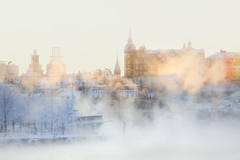 Зимний день в Стокгольме, Швеция
