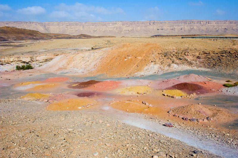 Пустыня Махтеш Рамон в Израиле