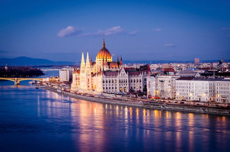 Parliament building in Budapest.