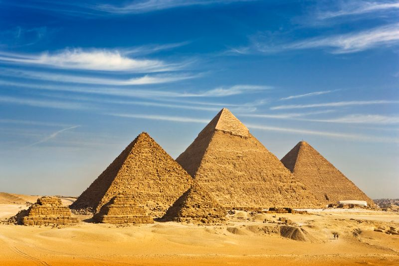 The Pyramids at Giza, Egypt