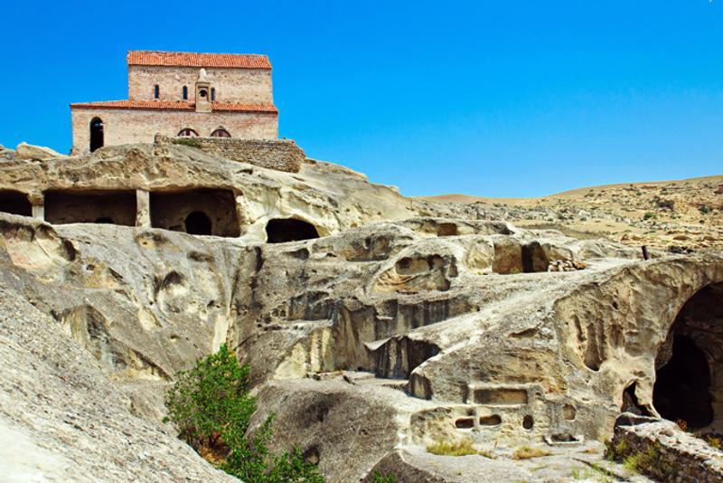 Пещерный монастырь Уплисцихе в Грузии