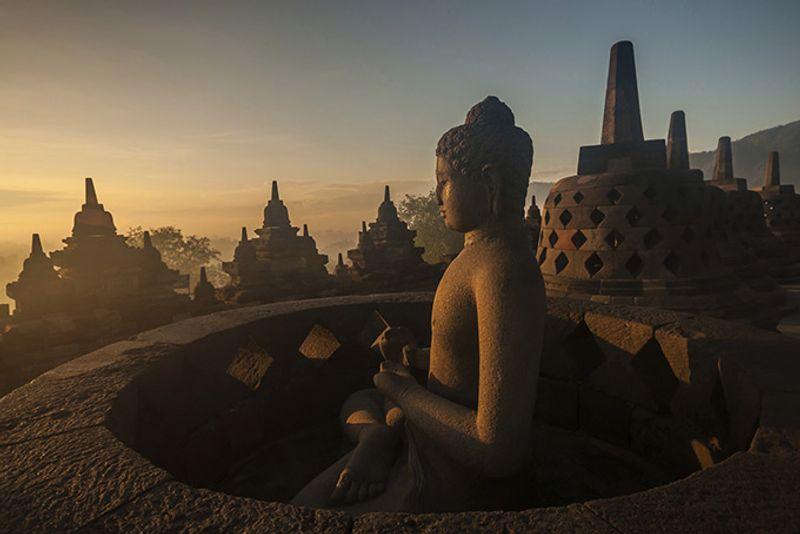 Храм Боробудур на Яве, Индонезия