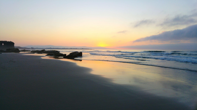 Sunset at Praia As Catedrais, Galicia