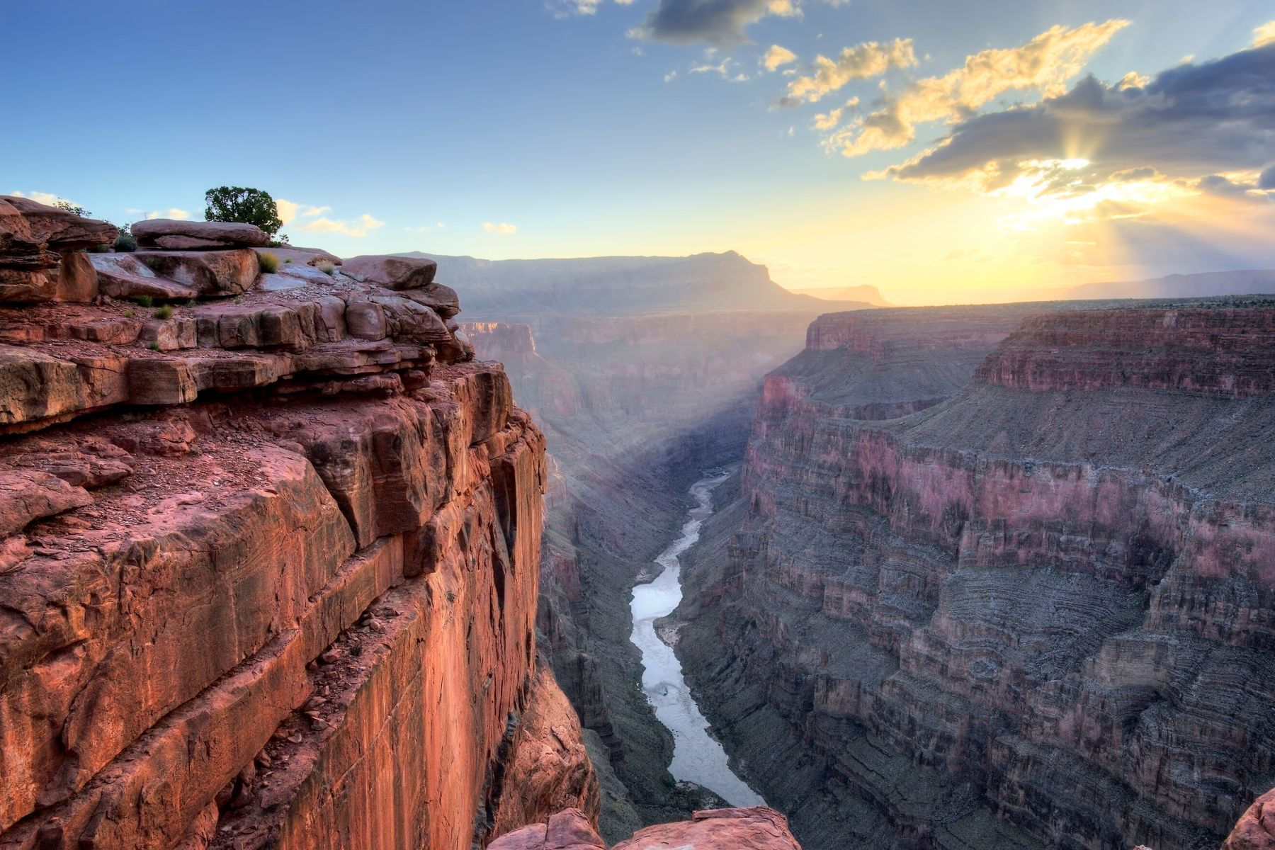 Sunset over Grand Canyon National Park