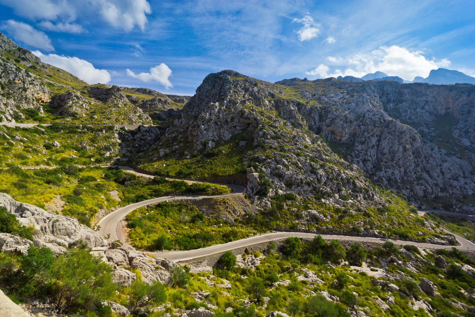 Sa Calobra road, one of the most scenic in Mallorca - best places to visit in the Balearic Islands